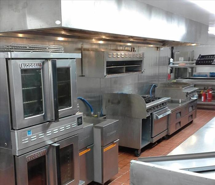 Commercial kitchen after reconstruction